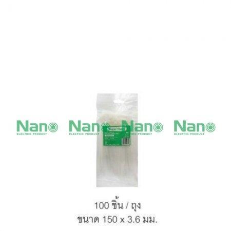 เคเบิ้ลไทร์ NANO  ขาว(100 ชิ้น/ถุง, 10,000 ชิ้น/กล่อง) SN-150-3C