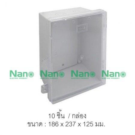 ตู้กันน้ำพลาสติก NANO  ฝาใส (PC)(10 ชิ้น/กล่อง) NANO-22CW