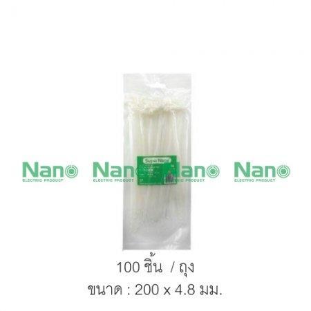 เคเบิ้ลไทร์ NANO  ขาว(100 ชิ้น/ถุง, 5,000 ชิ้น/กล่อง) SN-200-4C