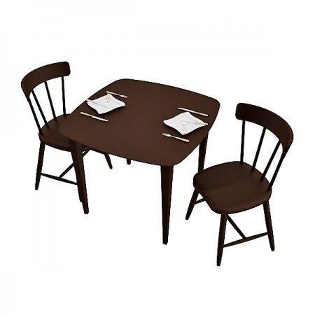 โต๊ะ Breeze M-ขอบโค้ง & เก้าอี้ Breeze Es 2 ที่นั่ง