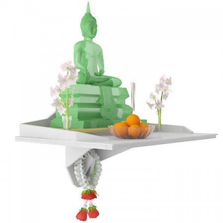 หิ้งพระ Buddha Agaligo สี White