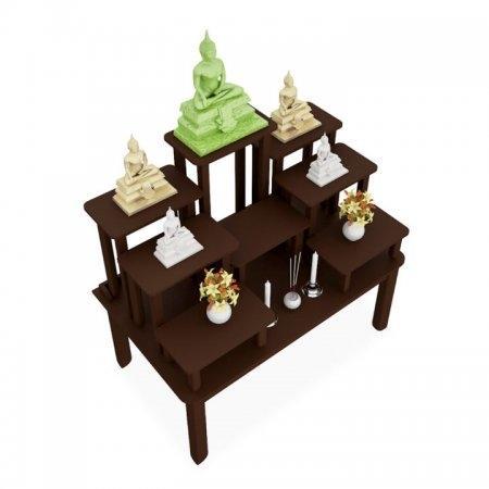 โต๊ะหมู่บูชาซีรี่ส์ 9 Buddha Series 9 Espresso