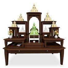โต๊ะหมู่บูชาหมู่ 11 Buddha Supreme สี Espresso