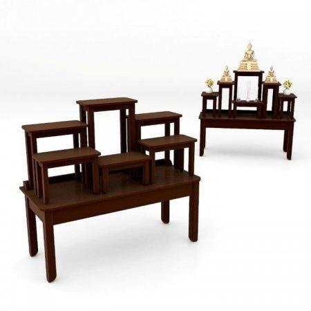 โต๊ะบูชาซีรี่ส์ 7 Buddha Series 7 Espresso