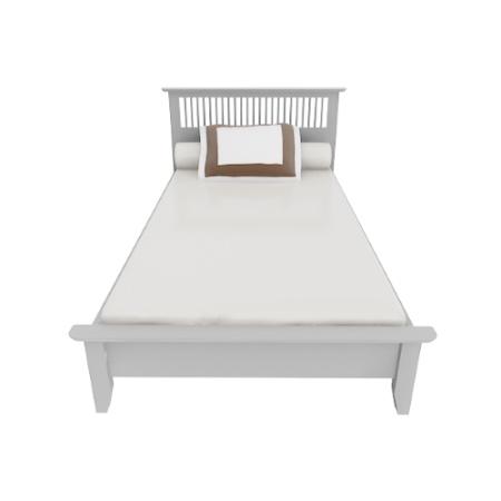 Breeze BED เตียง 3.5 ฟุต สีขาว White