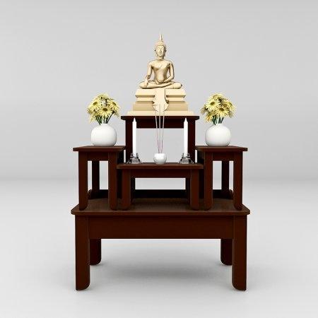 โต๊ะหมู่บูชาซีรี่ส์ 5 Buddha Series 5 Espresso