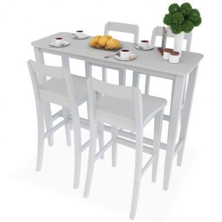SET Counter Table White 4 ที่นั่ง โต๊ะยาว