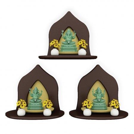 Mini Buddha Shelf ซื้อ 3 ชิ้น ถูกกว่า สีเอสเพรสโซ่ Espresso Color