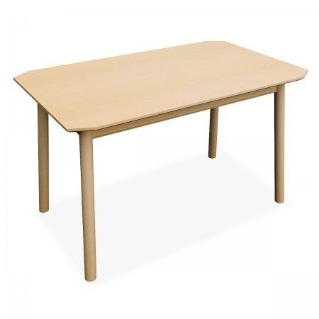 โต๊ะทานอาหารสี่เหลี่ยมผืนผ้า Nuvo สี White Wash