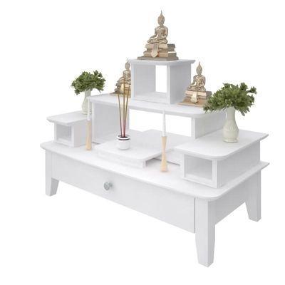 โต๊ะหมู่บูชาหมู่ 5 Buddha Console White