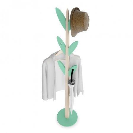 เสาแขวนหมวก เสาแขวนผ้า BeGreen สีเขียว Green