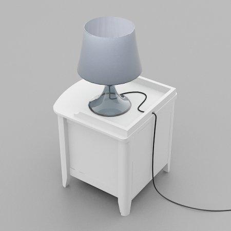 Breeze Night Table ตู้ลิ้นชักข้างเตียง สี White