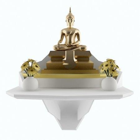 หิ้งบูชาพระ Buddha Space สี White