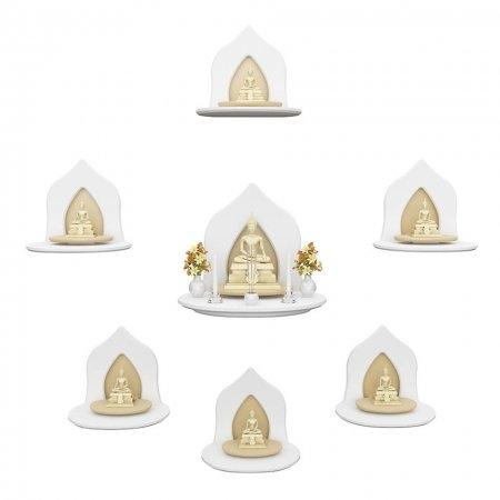 เซ็ต Grand Buddha Shelf White