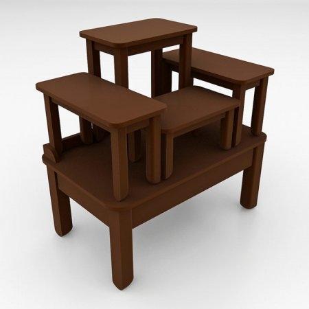 โต๊ะบูชาซีรี่ส์ 5 Buddha Series 5 Espresso