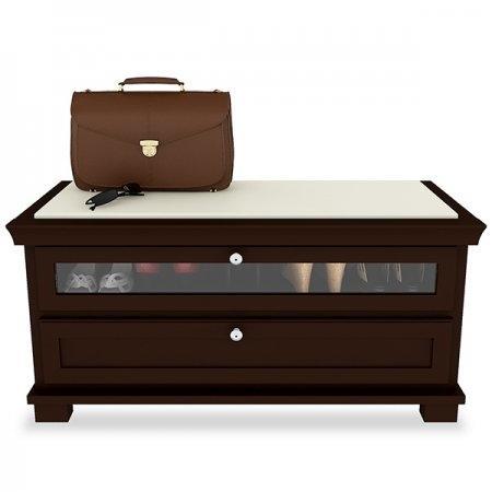 ตู้รองเท้า Hall Bench & Shoes Cabinet สีเอสเพรสโซ Espresso