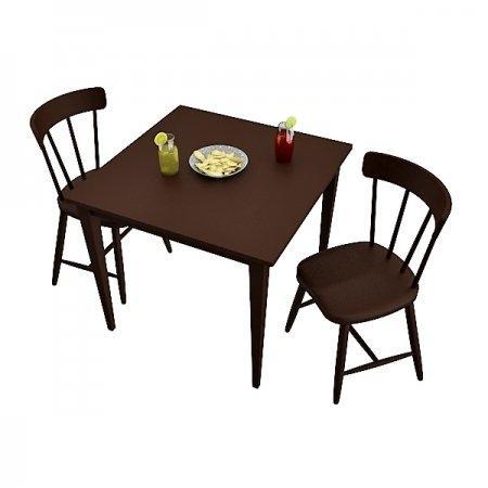 โต๊ะ Baxic M-ขอบตรง & เก้าอี้ Breeze Es 2 ที่นั่ง