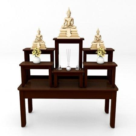 โต๊ะหมู่บูชาซีรี่ส์ 7 Buddha Series 7 Espresso