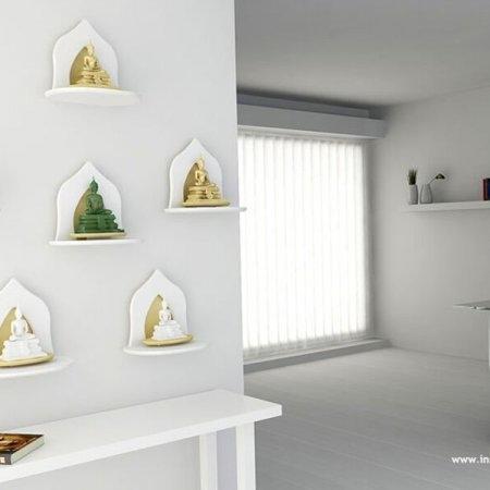 Mini Buddha Shelf ซื้อ 6 ชิ้น ถูกกว่า สี White