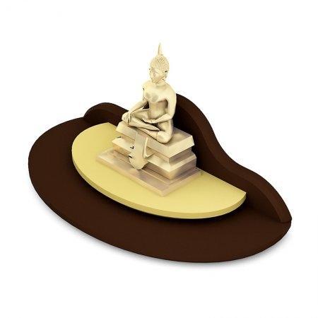 หิ้งพระขนาดเล็ก Mini Buddha Place สี Espresso