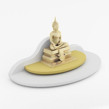 หิ้งพระขนาดเล็ก Mini Buddha Place สี White