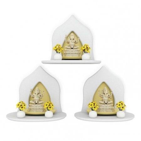 Mini Buddha Shelf ซื้อ 3 ชิ้น ถูกกว่า สีขาว White Color