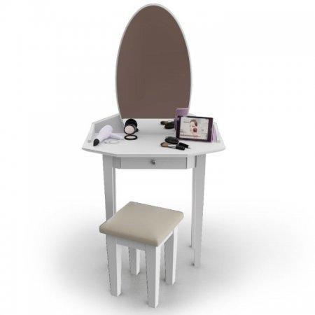 โต๊ะเครื่องแป้ง สตูล Princess Vanity สี White