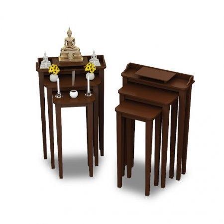 Tri Table ซื้อคู่ถูกกว่า สีเอสเพรสโซ่ Espresso Color