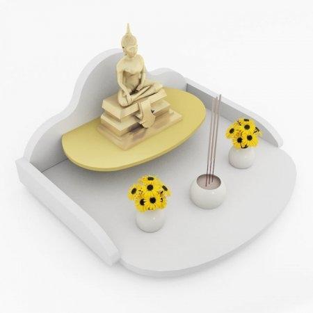หิ้งพระแบบถาดขนาดเล็ก Mini Buddha Tray สี White