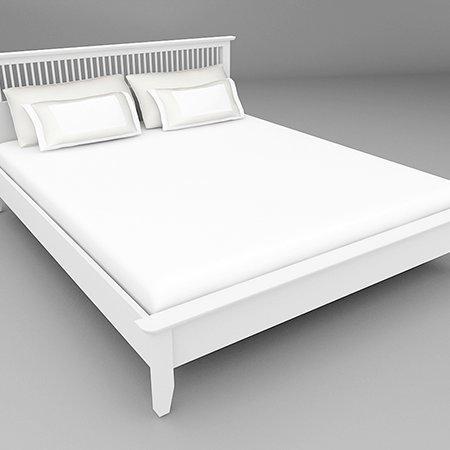 Breeze BED เตียง 5 ฟุต สีขาว White