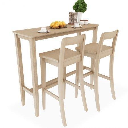 SET Counter Table White Wash 2 ที่นั่ง โต๊ะยาว