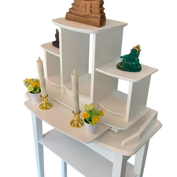 SET Great Buddha Shelf +Great console สีขาว