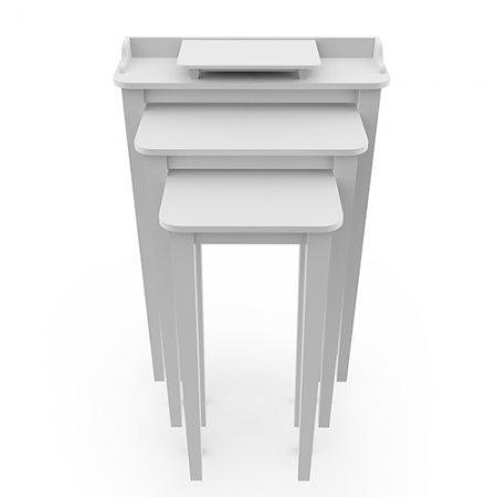 โต๊ะไตร สามชั้นใช้วางพระ Tri Table White