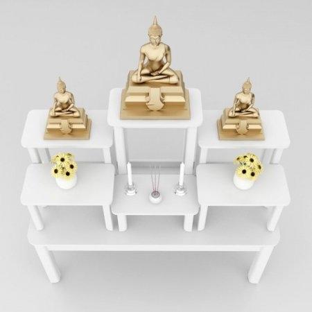 โต๊ะหมู่บูชาซีรี่ส์ 7 Buddha Series 7 White