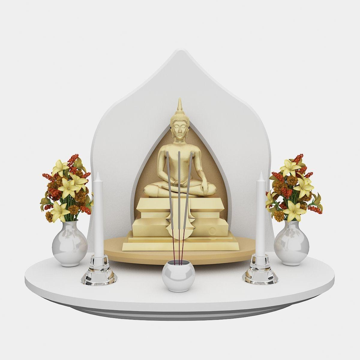 หิ้งพระ Grand Buddha Shelf White
