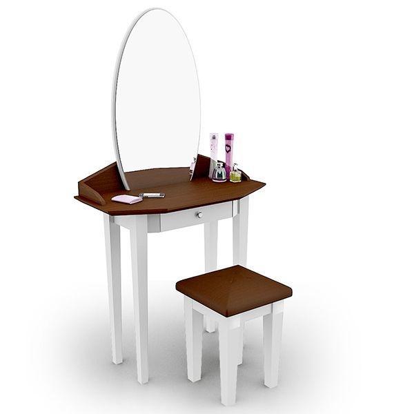 โต๊ะเครื่องแป้ง สตูล Princess Vanity สี Two Tone