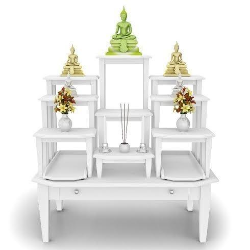 โต๊ะหมู่บูชาหมู่ 9 Buddha Palace W่hite