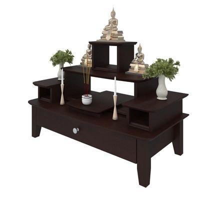 โต๊ะหมู่บูชาหมู่ 5 Buddha Console Espresso