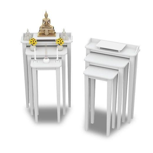 Tri Table ซื้อคู่ถูกกว่า สีขาว White Color