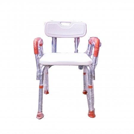 เก้าอี้นั่งอาบน้ำ มีพนัก ที่วางแขนสีส้ม รุ่น HY3520L