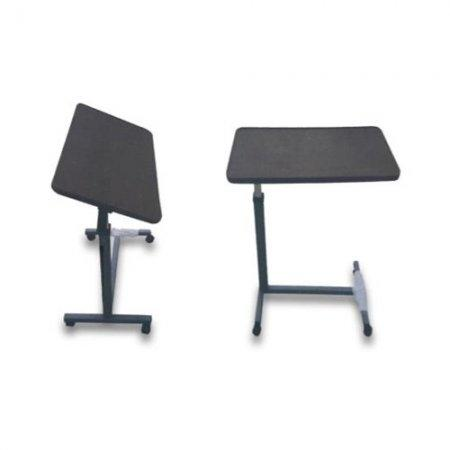 โต๊ะคร่อมเตียงลายไม้ แบบโช๊คแก๊ส ปรับเอียงได้ ST396B