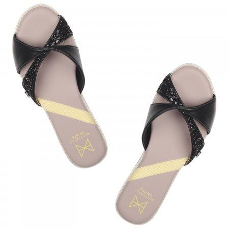 Butterfly Twists รองเท้าผู้หญิง รุ่น MISS ORA BLACK GLITTER