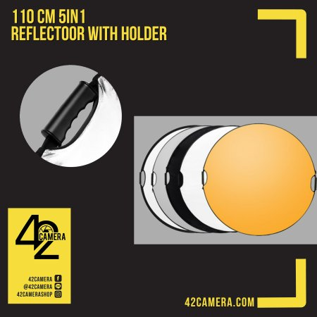 Reflector 110cm 5in1 With Holder + Bag