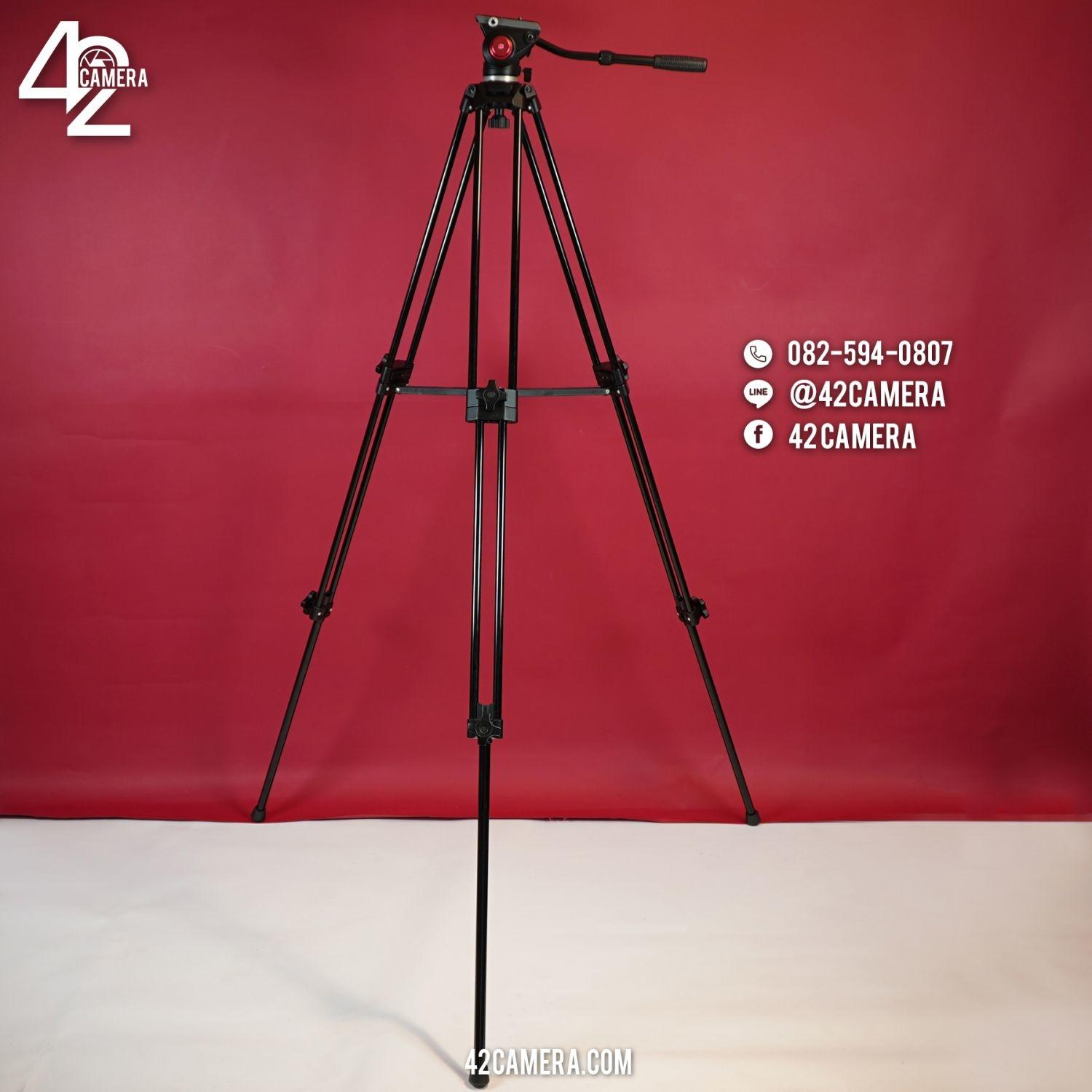 Video Tripod 180cm with Head + Bag