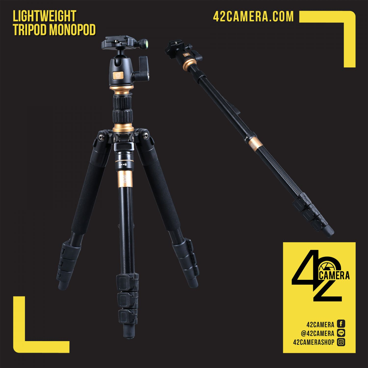Portable Tripod+Monopod 2 in 1