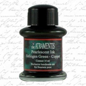 De Atramentis - Pearlescent ink - Heliogen Green Copper (35ml.)