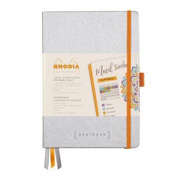 Rhodiarama : GoalBook Hardcover - A5 - Silver (5704)