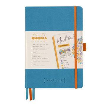 Rhodiarama : GoalBook Hardcover - A5 - Turquoise Blue (5766)