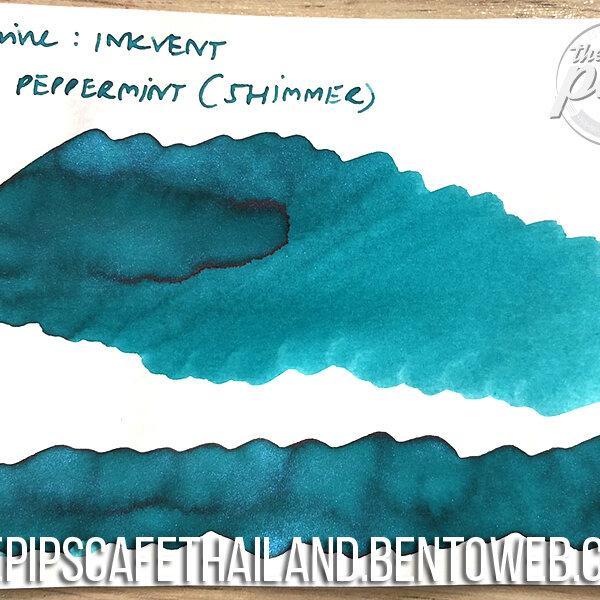 Diamine : Blue Peppermint (Shimmer) - Inkvent Blue Edition (50ml.)