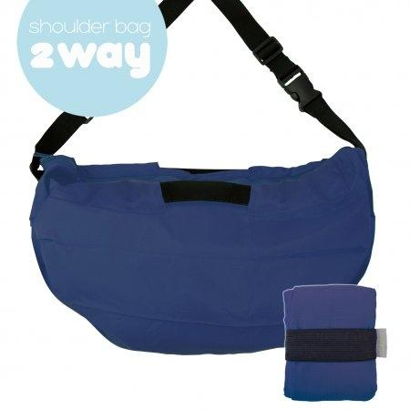 Shupatto Compact Bag - 2way Shoulder Bag - Navy